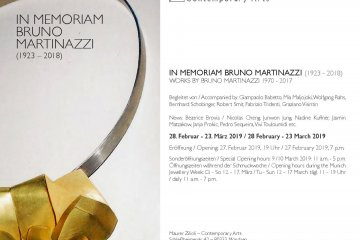 Group Exhibition In Memoriam Bruno Martinazzi at Maurer-Zilioli Gallery in Munich
